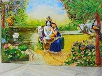 Radha Krishna Mural Painting