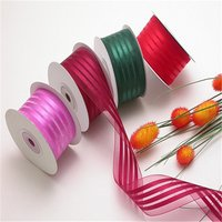 Colorful Christmas Satin Organza Ribbon