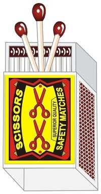 Scissors Brand Safety Matches