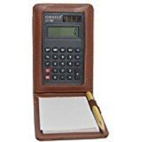 Knott Brown Mini Calculator Notpad