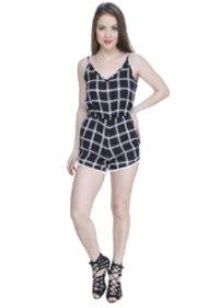 Ladies Black Straps Jump Suit