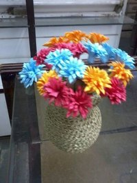 Colourful Paper Quilled Flowers With Decorative Pot