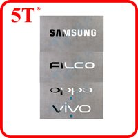 Die Cut Metal Stickers With Strong Pressure Sensitive Adhesive