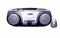 Rc-193cd Radio, Cd Player And Cassette Recorder With Remote Control