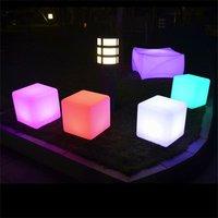 20cm Plastic Decorative Led Lighting Multi Color Change Led Cube