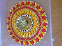Decorative Diya on Mirror