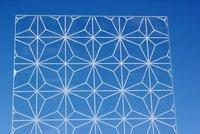 Sandblasted On Extra Clear Glass - Positive AP Estrella