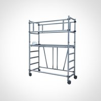 Single Width Aluminium Mobile Tower Scaffold Without Stair