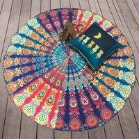 Indian Mandala Round Beach Throw Hippie Tapestry Beach Blank