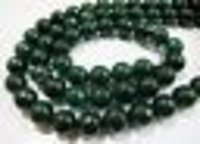 Emerald Jade Round Faceted Beads
