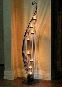 Decorative Iron Candle Stand Pillar