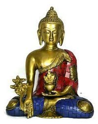 Double Colour Brass Buddha Statue