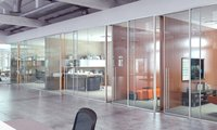 Acoustic Framed Glass Partition