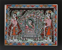 Fine Art Mithila Wall Painting