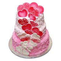 3 Tier Wedding Hearts Cake