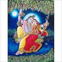 3d Radha Krishna Clay Painting