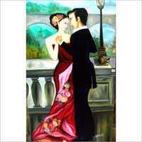 Decorative Romantic Dance Couple Oil Painting