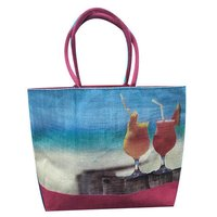 Highly Durable Jute Fancy Beach Bags