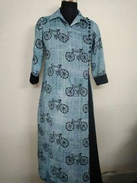 Cycle Print Gentle Women Kurtis