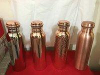 Hammered And Plain Copper Bottles