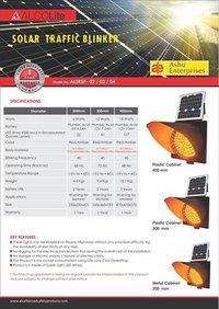 Solar Power Traffic Blinker