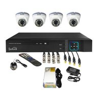 4 Ahd Indoor 1 Mp Cctv Cameras Complete Package