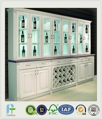 Commercial Solid Wood Wine Cabinet