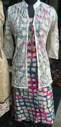 Brandsom Fancy Kurti With Embroidered Jacket