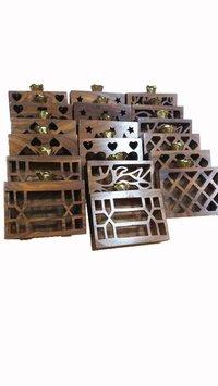 Designer Wooden Clutch Box