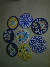 Handmade Blue Pottery Dish Set
