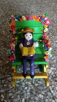 Lamasa Art Dolls On Wooden Chair