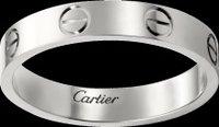 Love Wedding Band Platinum Ring