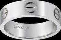 Platinum Love Ring