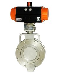 Ptfe Seals Actuator Operated Offset Disc Butterfly Valves