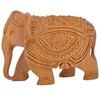 wooden handicraft elephant
