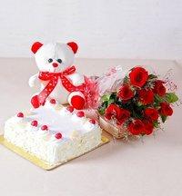 Rose And Cake Gift Hamper