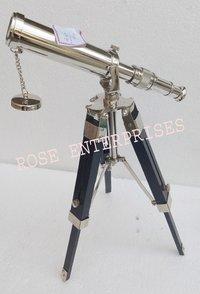 Decorative Silver Finish Telescope