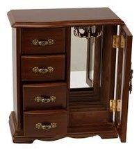 Wooden Wardrobe Style Jewellery Box