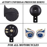 Autofy Universal Pressure Horns For All Motorcycles And Bike