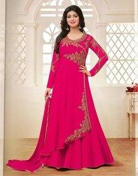 Pakistani Pink Georgette Anarkali Suit