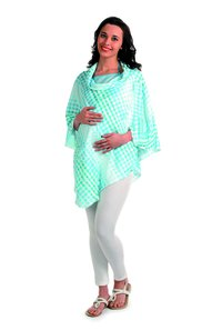 Safe Maternity Tunic Top With Zig Zag Shoulder Pleats