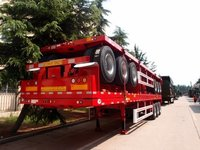 Sinotruk 3 Axles 40Ft 50Tons Flatbed Container Semi Trailer