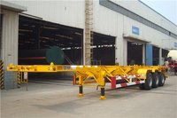Sinotruk 3 Axles 40ft 50 Tons Skeleton Semi Trailer Container Chassis