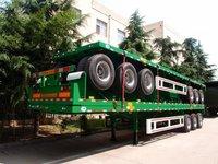 Sinotruk Tri Axle 40 Ft 60 Tons Flatbed Semi Trailer