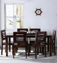 Handcrafted Six Seater Dining Table Set