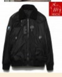 Smart Black Cotton Padded Zipper Jacket