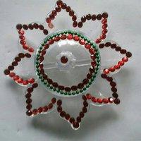 White Flower Acrylic Kumkum Box