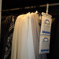 Rotatable Hanging Dehumidifier Moisture Absorber Bag For Closet