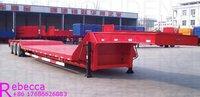3 Axles 80 ton Heavy Duty Low Bed Semi Trailer for sale