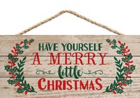 Merry Little Christmas Sign Design Hanging